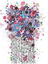 Obrazy - kvetiny vo fialovom  - 10235010_