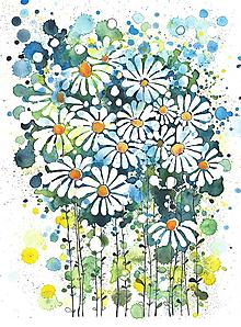 Obrazy - kvetiny v modrom - 10235000_