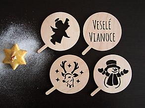Pomôcky - Set vianočných šablón na kávu (Set II) - 10232452_