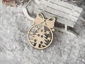 Dekorácie - Vianočná ozdoba guľa s mašličkou (Vzor I) - 10232605_