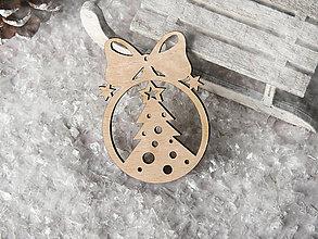 Dekorácie - Vianočná ozdoba guľa s mašličkou (Vzor II) - 10232608_