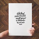 Grafika - Ľúb svoju rodinu - typografia (A3 - 29,7 x 42,0 cm) - 10231790_