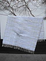 Úžitkový textil - Tkaný koberec - biely cca 80x130 cm - 10232948_