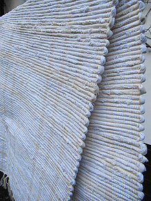 Úžitkový textil - Tkaný koberec - biely cca 80x130 cm - 10232941_
