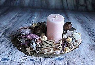 Dekorácie - nádherný jemný svietnik (sánky) - 10231465_