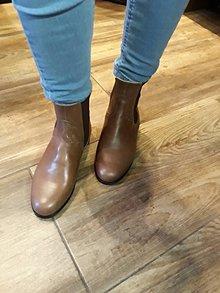 Obuv - Slovenský výrobok hand made dámské zimné topánky - 10231704_