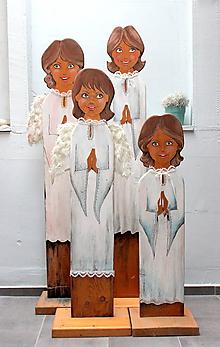 Dekorácie - drevený anjeli - 10234085_