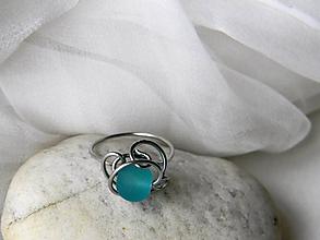 Prstene - Spona na hedvábí - prsten - 10234188_