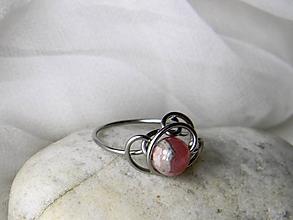 Prstene - Spona na hedvábí - prsten - 10234250_