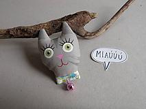 Mačička - reflexná brošnička *
