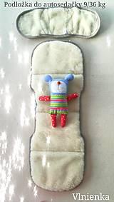 Textil - Podložka do autosedačky 9 - 36 kg 100% Merino proti poteniu a prechladnutiu CYBEX PALLAS S-FIX a ROMER ježkovia - 10234285_