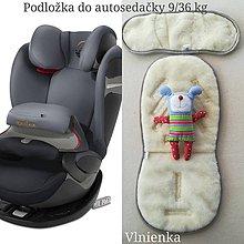Textil - Podložka do autosedačky 9 - 36 kg 100% Merino proti poteniu a prechladnutiu CYBEX PALLAS S-FIX a ROMER ježkovia - 10234145_