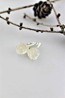 Náušnice - horský kryštál náušnice - kamenné kvety - 10231525_