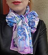 Face to face Alkofaces-hodvábny maľovaný šál