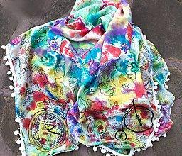 Šatky - Face to face batik- hodvábna maľovaná šatka - 10233496_
