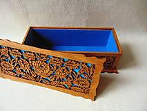 Krabičky - Drevená šperkovnica V záhradách - 10233324_