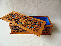 Krabičky - Drevená šperkovnica V záhradách - 10233326_