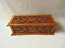 Krabičky - Drevená šperkovnica V záhradách - 10233330_
