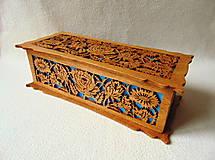 Krabičky - Drevená šperkovnica V záhradách - 10233332_