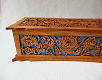 Krabičky - Drevená šperkovnica V záhradách - 10233342_