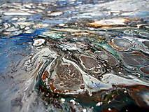 Obrazy - Strieborný dážď - 10233998_