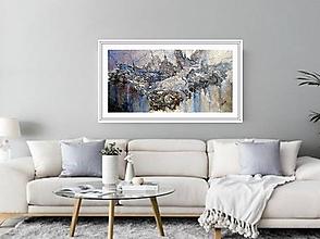 Obrazy - Strieborný dážď - 10233991_