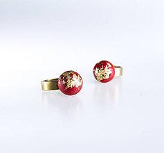 Prstene - betónový prsteň SHINE (red limited edition) - 10232822_