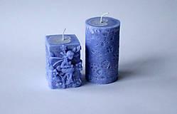 Svietidlá a sviečky - Sada sviec  - modrá - 10234979_