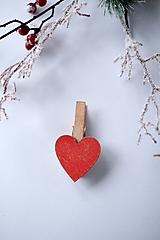 Dekorácie - Veľký štipec srdiečko - 10234989_
