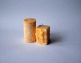 Svietidlá a sviečky - Sada sviec - nechtíkovo žltá - 10234970_