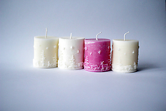 Svietidlá a sviečky - Adventná sada sviečok Ø53 - 10234981_