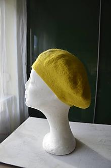 Čiapky - Baretka žltá... - 10231654_