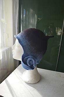 Čiapky - Čiapka modrá so skladaním na oboch stranách... - 10232656_