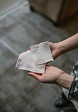 Úžitkový textil - Hranaté zero waste odličovacie tampóny - 10234398_