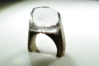 Prstene - Drevený prsteň ľadové kráľovstvo - 10234720_