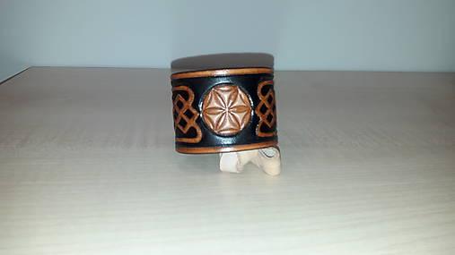 Slovanský kožený náramok - Svarga