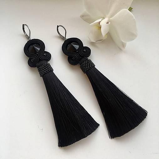 Ručne šité šujtášové náušnice / Soutache earrings -  Swarovski®️crystals