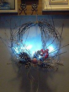 Dekorácie - svietiaci vianočný veniec. - 10233106_