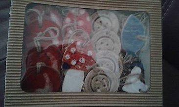 Drobnosti - vianočné ozdoby - 10231947_
