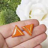 Náušnice - Napichovacie náušnice - oranžové - York - 10233736_