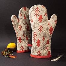 Úžitkový textil - Chňapka - Stromčeky - 10234441_