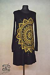 Šaty - Zlatá mandala- ručne maľované šaty (S) - 10231809_