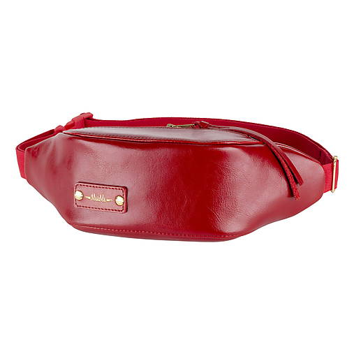 11f46fcd5fb7 Kožená ľadvinka MARATHON z pravej kože - biela (Červená)   marima-sk ...