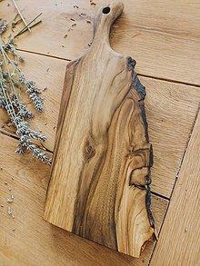 Pomôcky - Masívna doska na krájanie 01 (37 cm (dĺžka) x 18 cm (šírka) x 3,5 cm (hrúbka)) - 10232006_