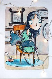 Kresby - Elmíra a jej námorník - 10233846_