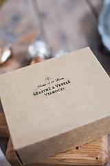 - Darčekové balenie k voskom a čajovým vintage sviečkam - 10233029_