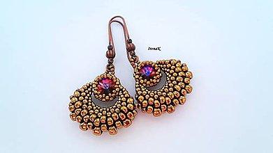 Náušnice - Taštička bronzová (mini) - 10231551_