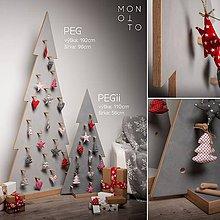 Dekorácie - Betónový vianočný stromček | séria PEGii - výška 110cm - 10233134_