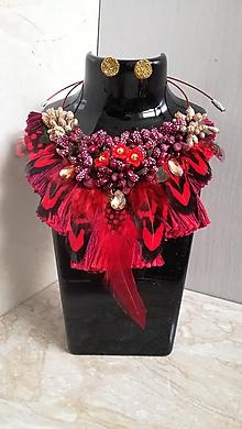 Náhrdelníky - Bohémsky náhrdelník s nausnickami - 10234480_