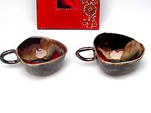 Nádoby - šálka červeno kovová - 10231894_